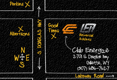 Club Energize is located at 2701 S Douglas Hwy, Gillette, WY